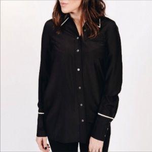 New J Brand Silk Blend Button down Pajama Top S